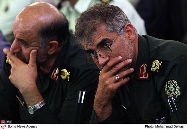 حضور سردار جواد درویش وند در مراسم تشییع پیکر جانشين فرماندهي مرزباني نيروي انتظامي کشور
