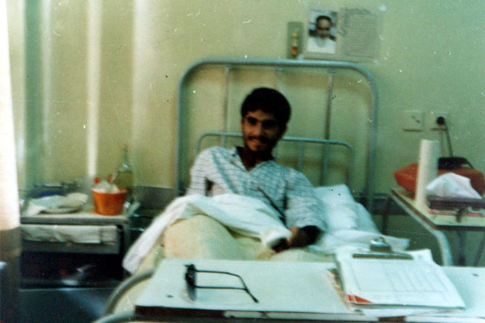 عکس های سردار جواد درویش وند در زمان مجروحیت