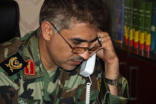 چند عکس از سردار جواد درویش وند در محل کار (1)